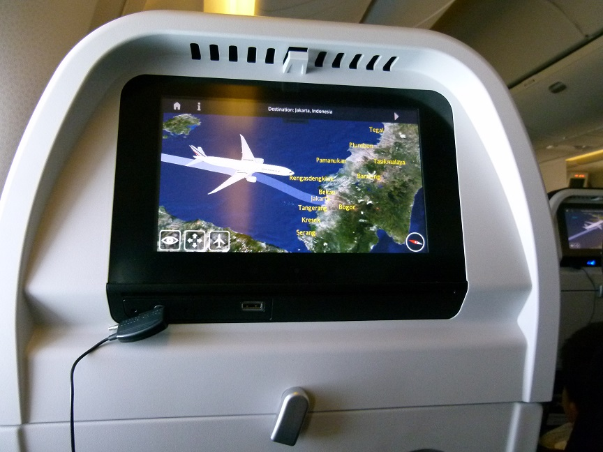 The In-Flight Entertainment Panel - Airfrance B777-300ER