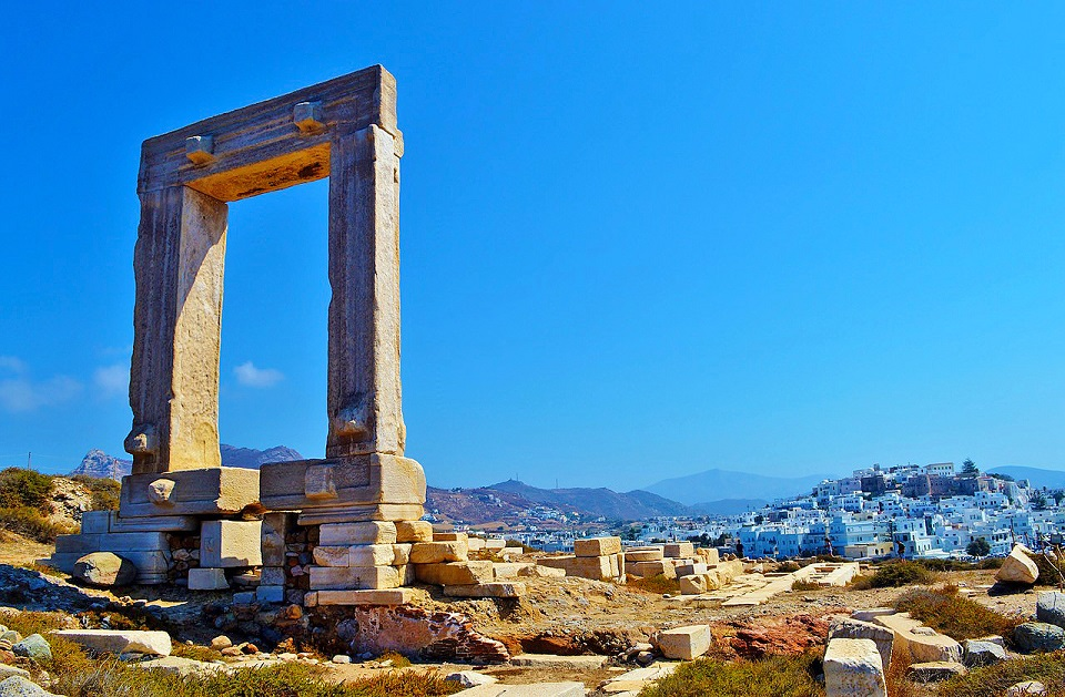 Gate of the Temple of Appollo in the Naxos Town