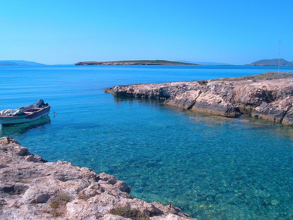 Beautiful Paros sea